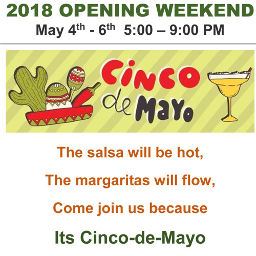 Cinco-de-Mayo at Waters Edge Pizzeria